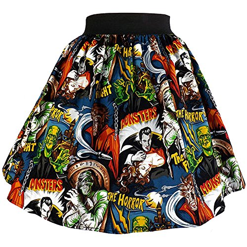 Women's Hemet Perfectly Pleated Monsters Skirt XL