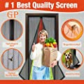 "Best Magnetic Screen Door, Full Frame Velcro, Fits Door Openings up to 34""x82"" Max, Automatic Close Screen Door, Protects Family From Bugs & Mosquitoes, Let Fresh Air in, child and Pet Friendly from ANPING MESH CO.,LTD."