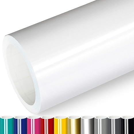 Actinium Klebefolie 5 M Weiss Glanz 5m X 0 63m Selbstklebende Folie Glänzend Möbelfolie Selbstklebend Küchenfolie Plotterfolie Baumarkt