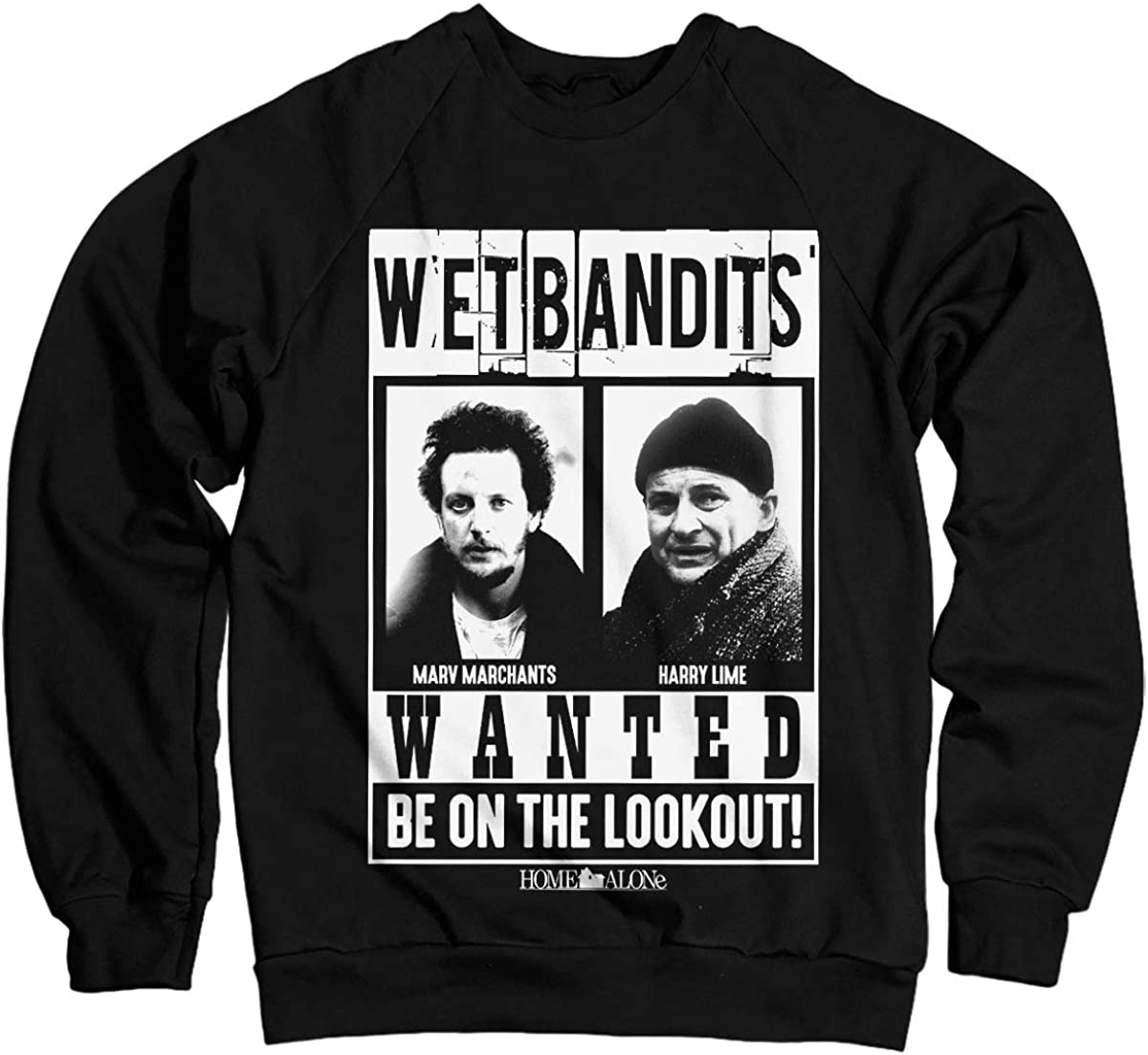 Home Alone Officially Licensed Wet Bandits Sweatshirt (Black)