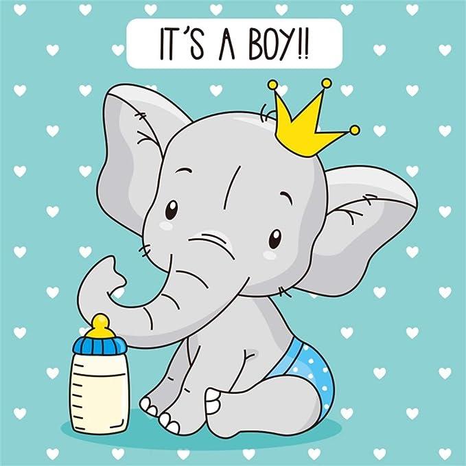 Lucetta LED Baby Elephant Heart Heaven in Ceramic Bomboniere Christening Boy