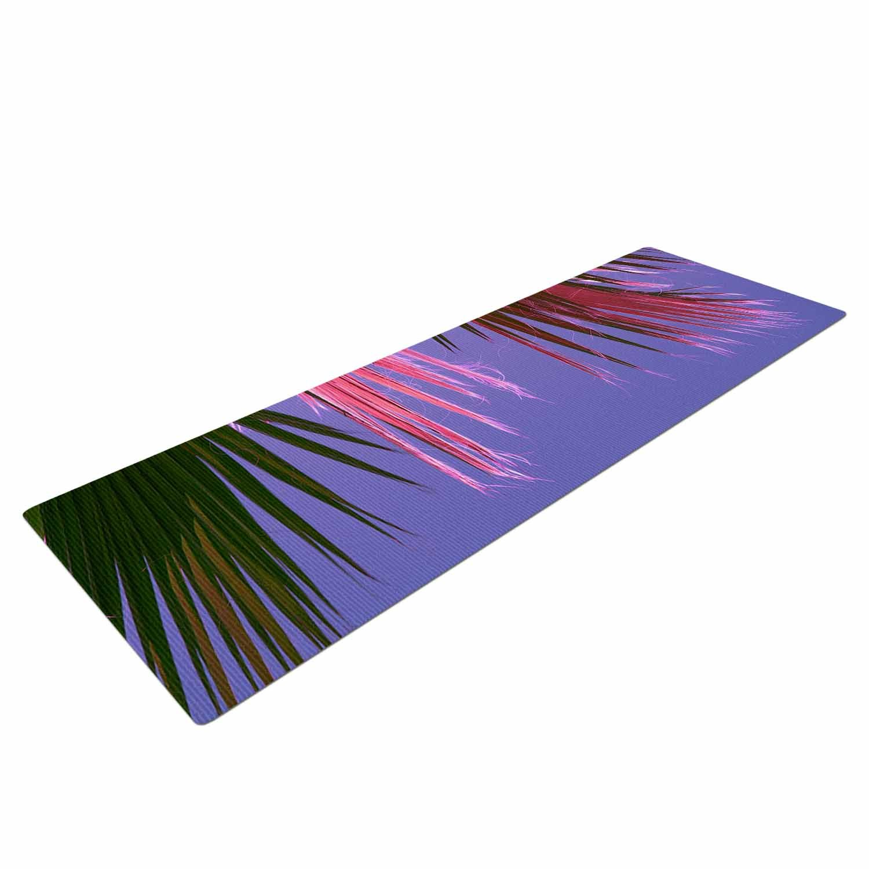 Kess eigene Ann Ann eigene Barnes Neon Jungle Violett Yogamatte, grün, 182,9 x 61 cm 793f7b