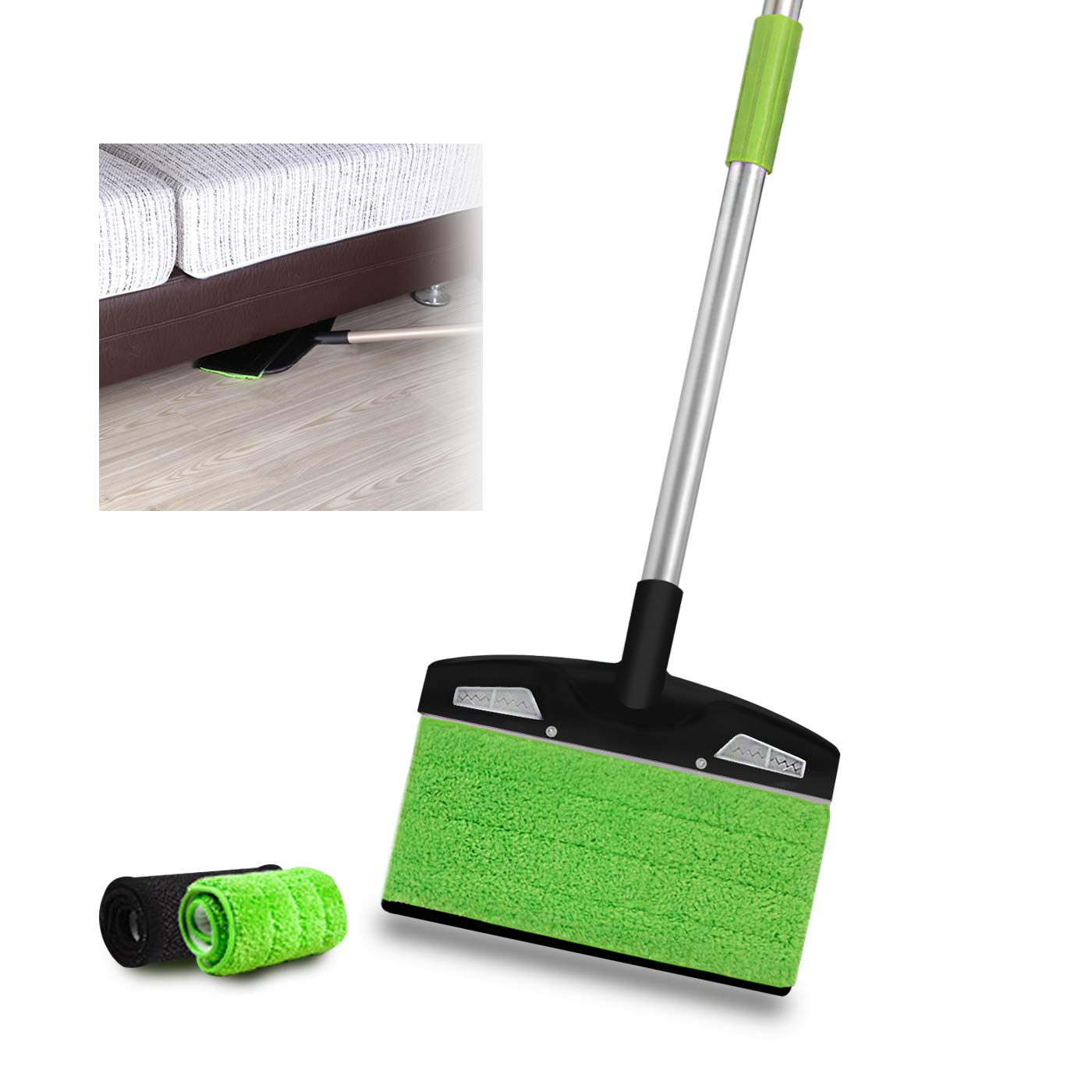 Dustpan Set Dust pan and Broom Lobby Broom Combo Upright Grips Sweep Set with Broom (Green)