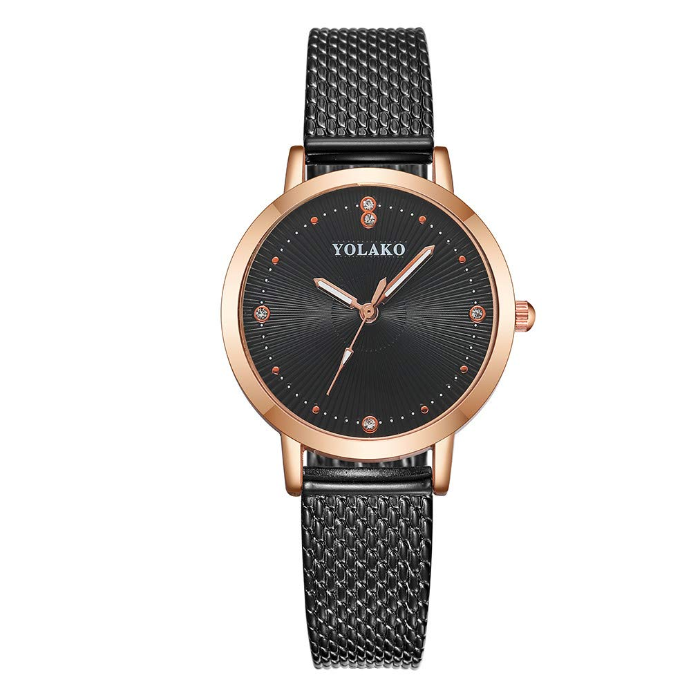 Clearance On Sale Watches,FRana Wrist Watch Retro Leather Band Luxury Fashion Full Diamond Analog Quartz Watch