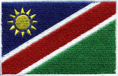 Targhetta Namibia misura 8 cm x 5 cm circa easybiz (21635) a forma di penna con logo applicato - Paesi banidera Nation Fan-O-Menal