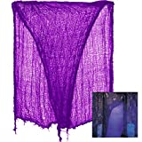 Father.son Halloween Creepy Cloth Decoration Halloween Party Decorations. (3ft X 15ft, Purple)