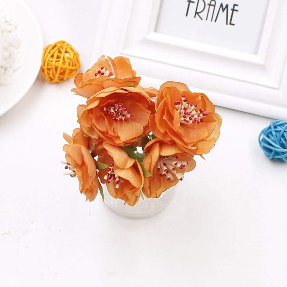 シルク製大きなバラの造花ブーケ 6点 ウェディングパーティーの花の造花 造花 装飾 海の花輪 植物 B07H5KCZJV 4