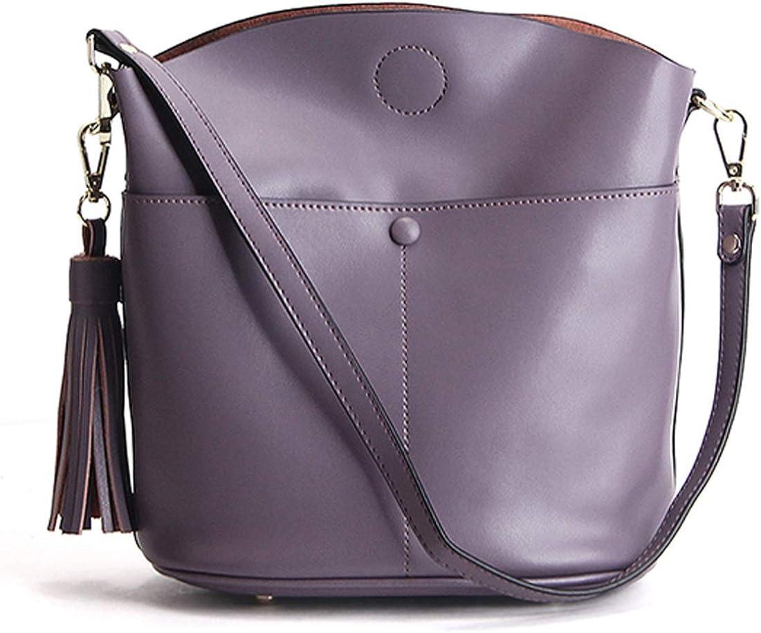 Heshe Womens Leather Crossbody Bag Small Shoulder Handbags Satchel Purse for Ladies