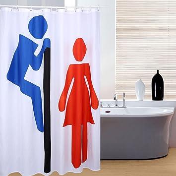 izuhause® Rideaux de douche design 3D imperméable rideau de douche ...