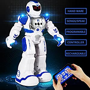 Remote Control Robots For Kids - Walking Control RC Robot Infrared Control Toys with LED Light,Singing and Dancing,Moonwalking and Gesture Sensing by Ailuki