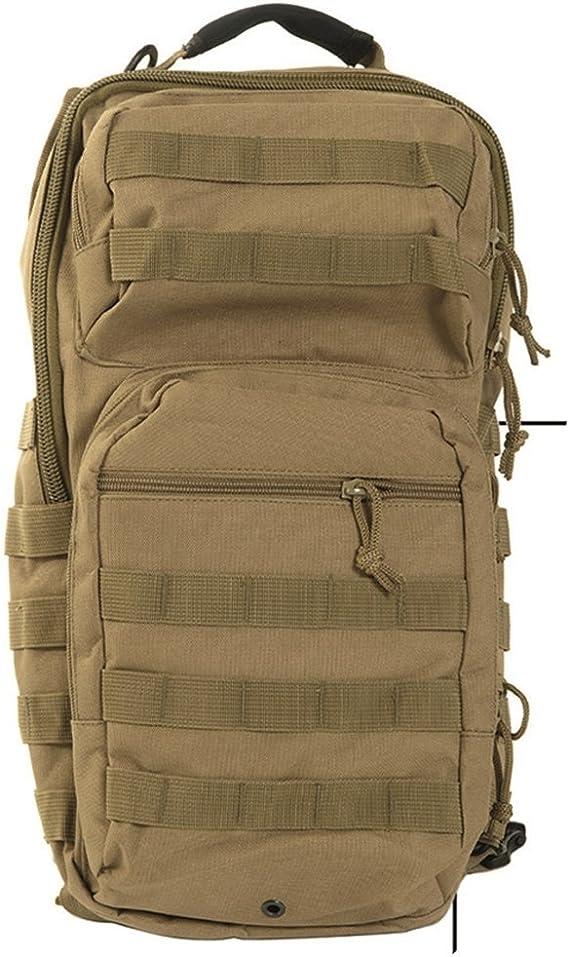 Mil-Tec - Mochila de asalto (diseño del ejército americano, con una correa, tamaño grande), Marrón: Amazon.es: Deportes y aire libre