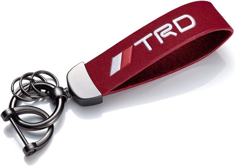 New Genuine Leather Car Logo Keychain Keyring Accessories for Mercedes Benz AMG Key chain Present for Man and Woman.