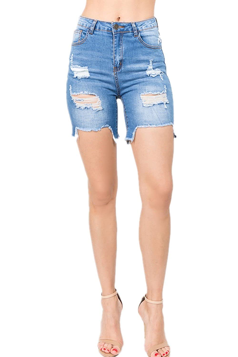 Jeans Sincere Ripped Hole Fringe Denim Shorts Women Casual Pocket Jeans Shorts 2019 Summer Female Wide Leg Hot Shorts Button Attractive Designs; Bottoms