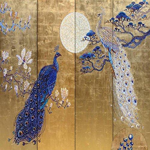 Wapel Custom 3D Wallpaper Dream Peacock Background Decoration Wallpaper 3 D Living Room Tv Custom Any Size Photo Wallpaper Silk cloth 250x175CM