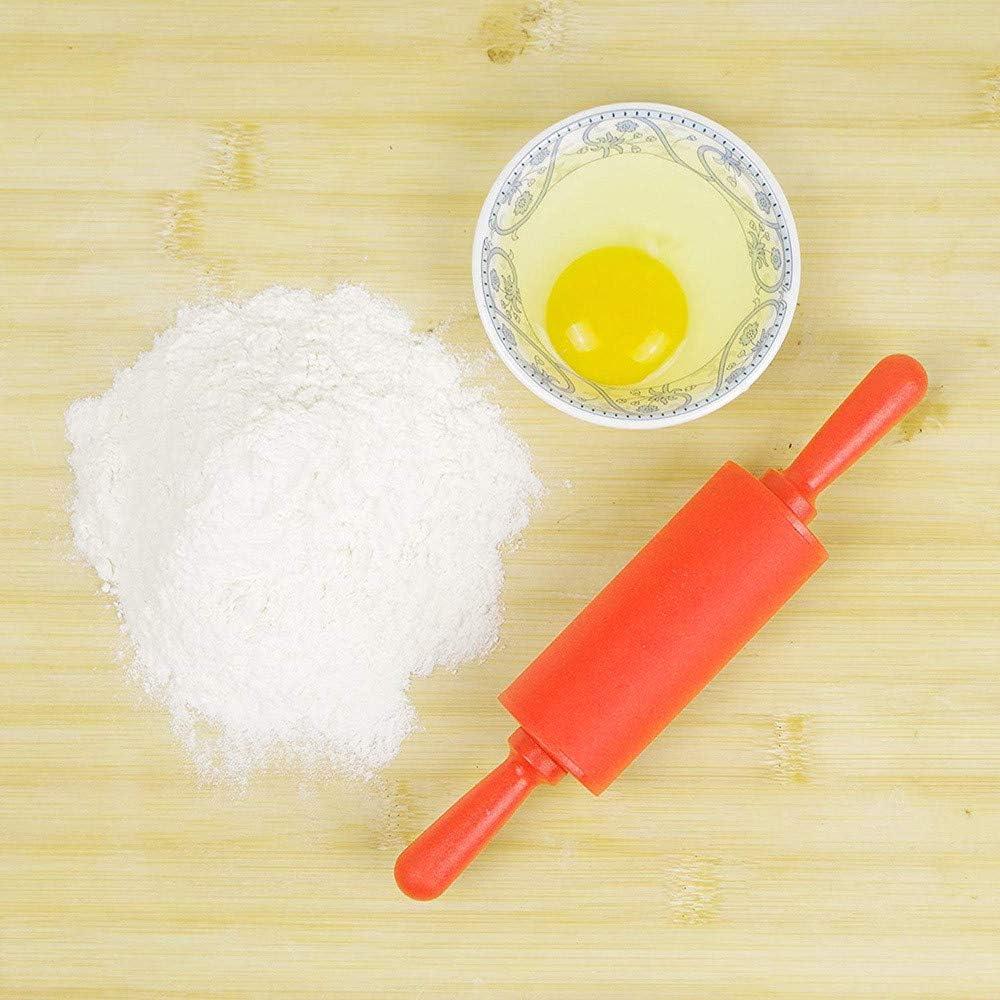 Nudeln Setsail Kleine Lebensmittelqualit/ät Silikon Nudelholz Rot Kn/ödel Brot Kunststoffgriff Silikon Nudelholz