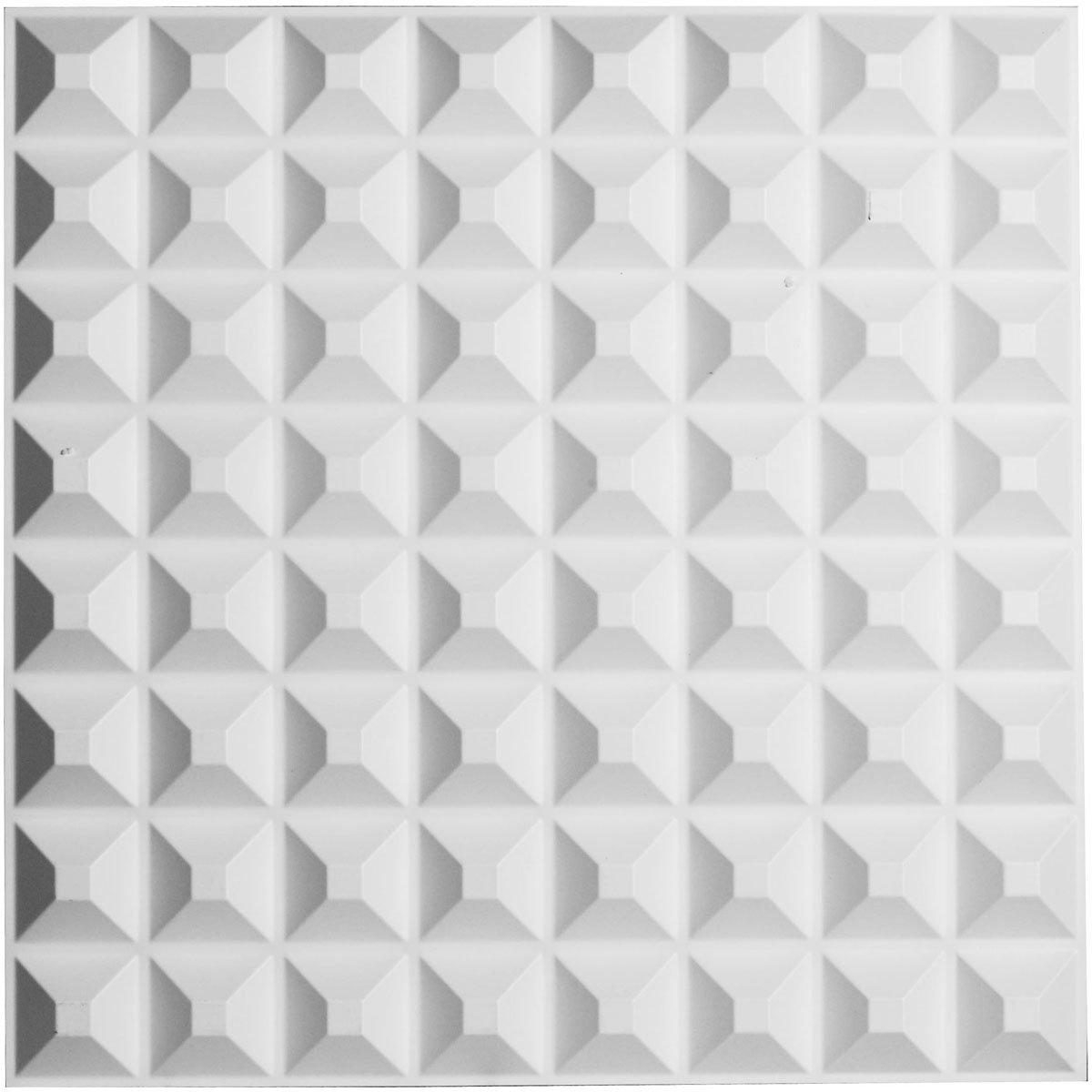 Ekena Millwork WP20X20BRWH Bradford Design Decorative 3D Wall Panel White