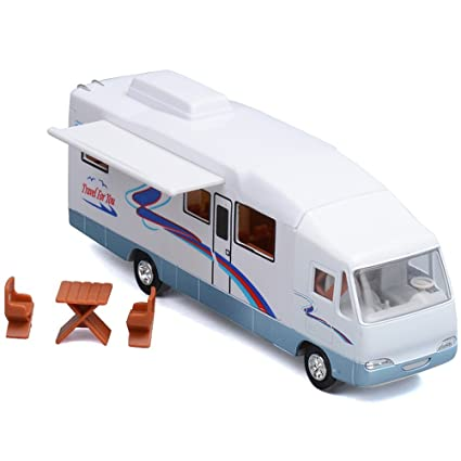 HAPTIME 76quot Cool Mini Motorhome Toy Die Cast Pullback Recreational Vehicle
