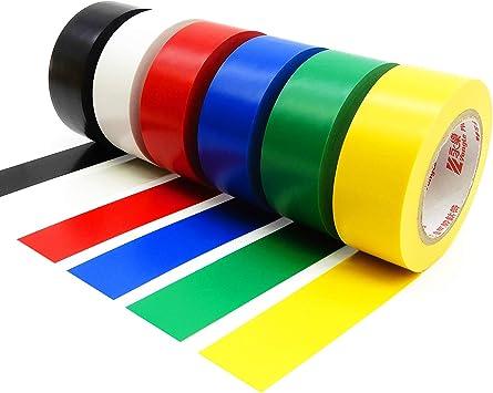 Cinta aislante de PVC de 25 mm x 15 m, paquete de 6 unidades, colores variados.: Amazon.es: Bricolaje y herramientas