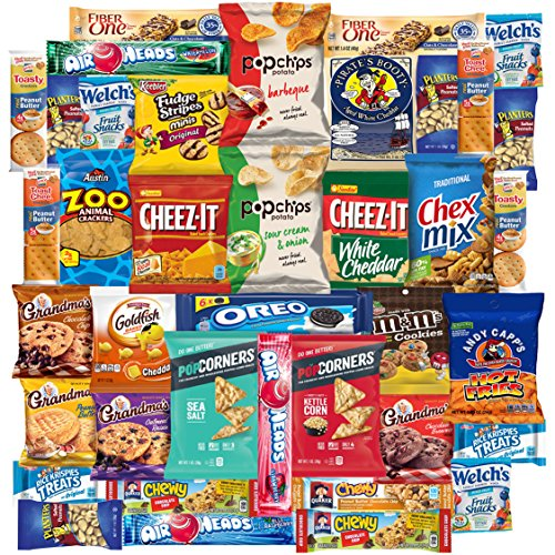 Individually Wrapped Snacks (Lots of Snacks, Individually Wrapped Chips, Cookies and More, Care Package for Family Members and Friends (40 Count))