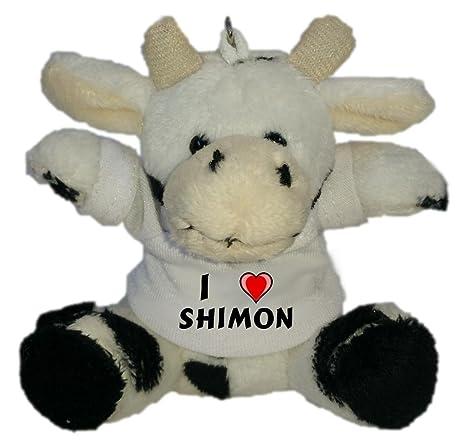 Vaca de Peluche (Llavero) con Amo Shimon en la Camiseta ...