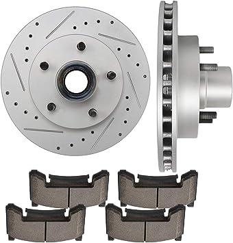 Fit GMC Chevrolet Jimmy Blazer Front  Drill Slot Brake Rotors+Ceramic Pads
