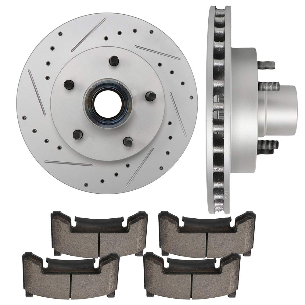 Front Brake Rotors /& Ceramic Pads for Chevy Blazer S10 Sonoma Jimmy Hombre 2WD