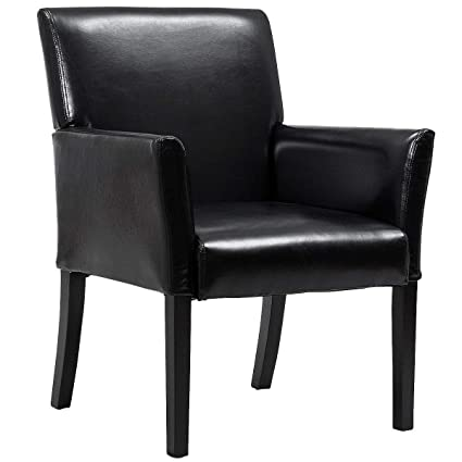 Amazoncom Giantex Leather Reception Guest Chairs Set Office