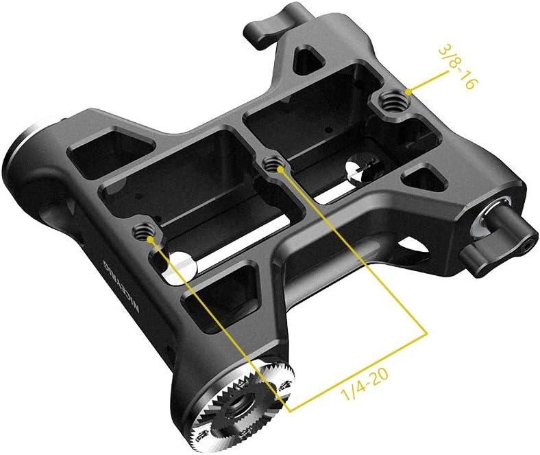 NICEYRIG Embase avec support de rosace ARRI et pince de tige 15 mm pour appareil photo Canon C100//C300//C500 Sony FS7//FS5//FX9 Rouge DSMC2 Kinefinity Cinema