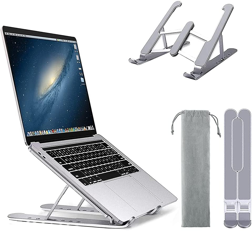 ARSSLY Laptop Stand, 6-Levels Adjustable Height Computer Stand - for All Laptop and Tablets 7-17
