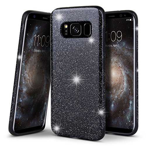 Price comparison product image Galaxy S8 Case, BELK [Forever] Shiny Bling Shockproof Rubber Bumper Sparkle Glitter Silicone Gel Back Cover Slim Protective Soft TPU Flexible Case for Samsung Galaxy S8, 5.8 Inch - Black