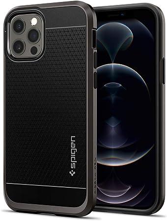 Spigen Neo Hybrid Hülle Kompatibel Mit Iphone 12 Pro Und Kompatibel Mit Iphone 12 Gunmetal Elektronik