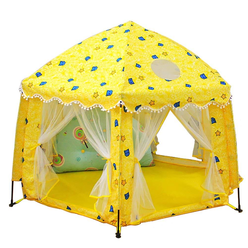 最適な材料 -ベビーサークル - 六角形の演劇のテントの黄色 - 屋内屋外のための子供の秘密のゲーム城の演劇場 B07Q5QPP5X, アイアン工房:39103bbc --- a0267596.xsph.ru