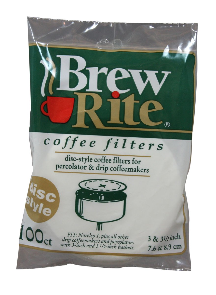 "Disc Coffee Filter for 3and 3.5"" Percolator 600 Count Brew Rite"