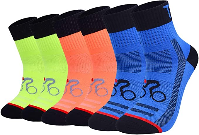 Okwin Calcetines Ciclismo Transpirable Que Absorbe Running Deporte ...