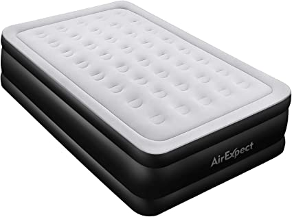 Queen Air Mattress With Built In Pump Airexpect Upgraded 0 7mm Thickness Leak Proof Inflatable Mattress Double High Elevated Airbed Blow Up Bed For Guests 80 60 19 Inches Amazon Ca Home Kitchen