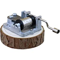 YouTang 18 Note Hand Cranked Musica Box Natural Pine Music Box,Tune:The Wind Forest from Totoro