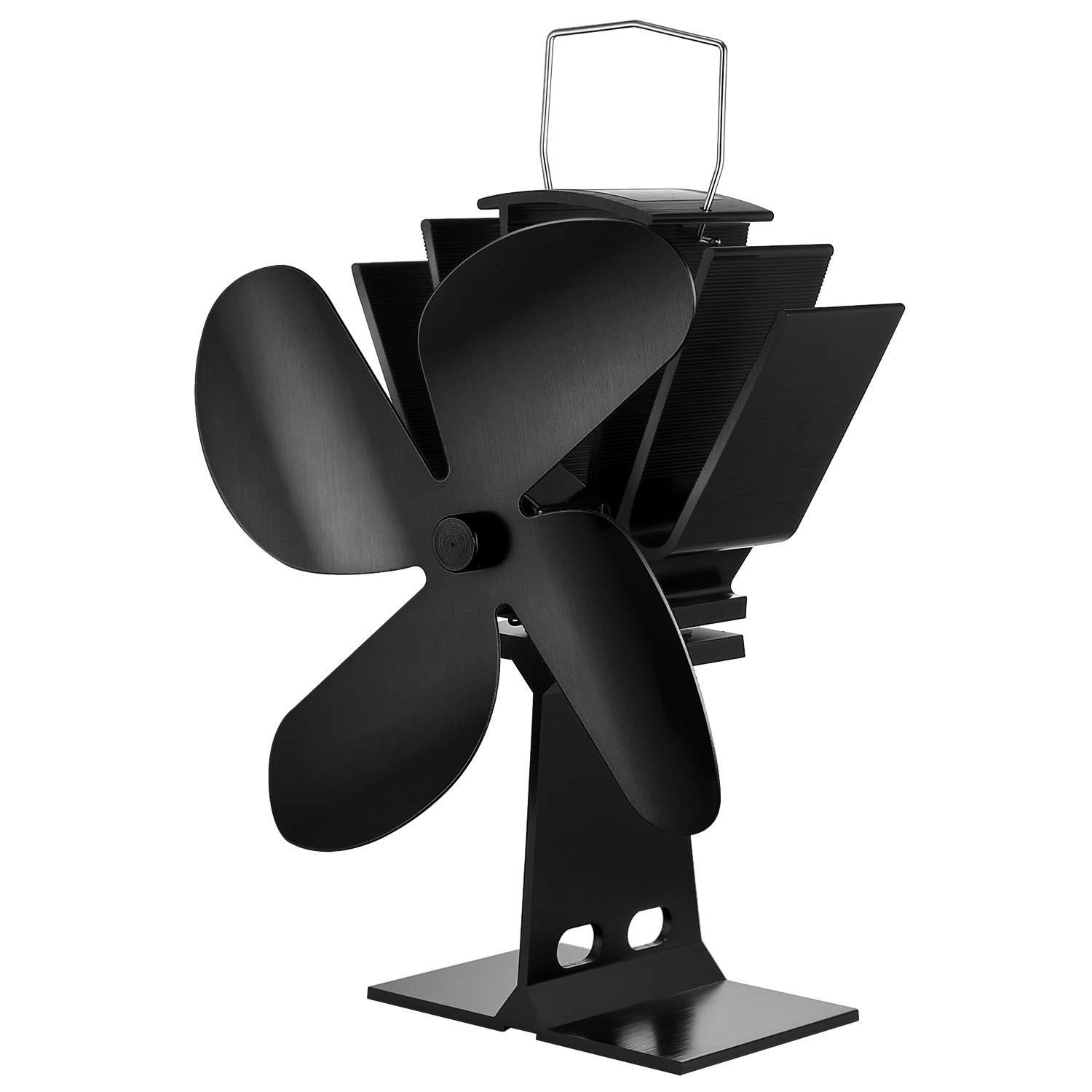 JYDMIX Stove Fan- 4-Blade Heat Powered Wood Burning Stove Fan for Log Burner/Fireplace-Quietly and Efficiently Heat Distribution by JYDMIX