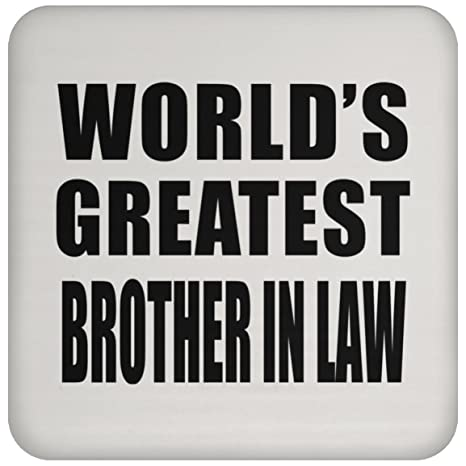 Worlds Greatest Brother In Law - Drink Coaster Posavasos ...
