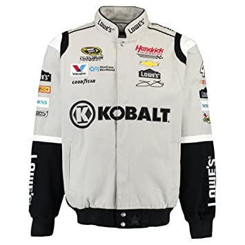 2016 Jimmie Johnson herramientas cobalto para hombre gris de sarga Diseño de NASCAR chaqueta por jh, gris: Amazon.es: Deportes y aire libre