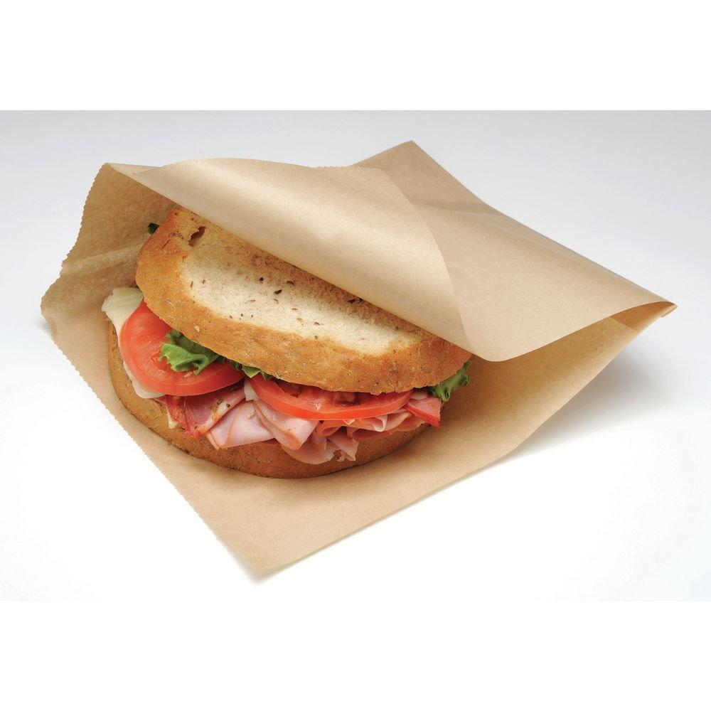 Sandwich Bag Natural Kraft Paper Open Sesame - 9''L x 10''W 1000 Per Case
