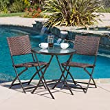 Cantinela 3pc Outdoor Folding Bistro Set