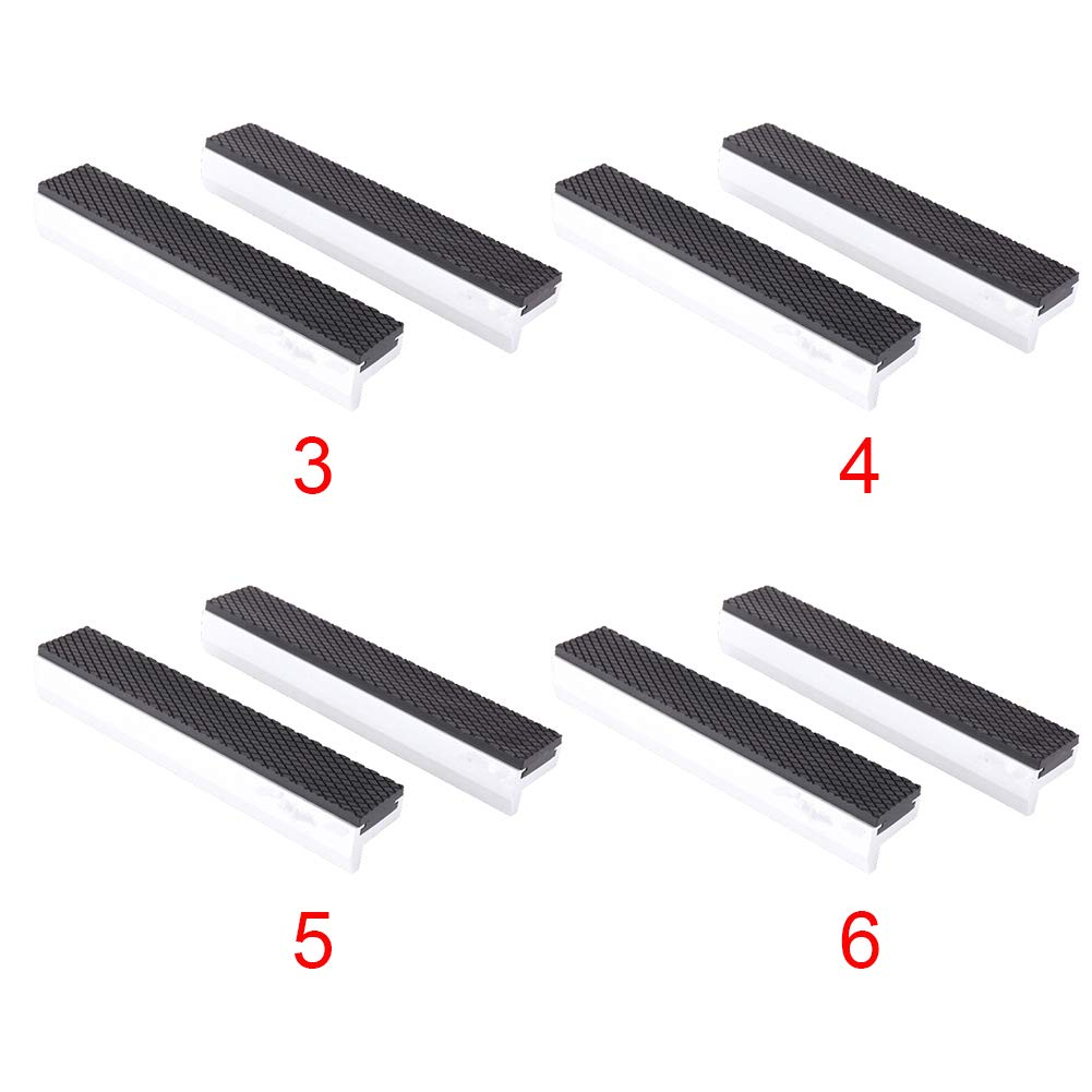 Vise Jaws 1Pair Rubber Protector Woodworking Anti Slip for Engineer Universal Home Soft Strong Magnetic Clamp Multipurpose Flat Mouth Hand Tool Protective Pad