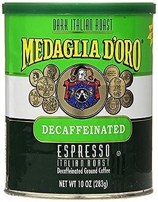 Medaglia D'Oro Italian Roast Decaffeinated Espresso Coffee