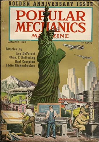 Popular Mechanics Magazine January 1952 Golden Anniversary Issue