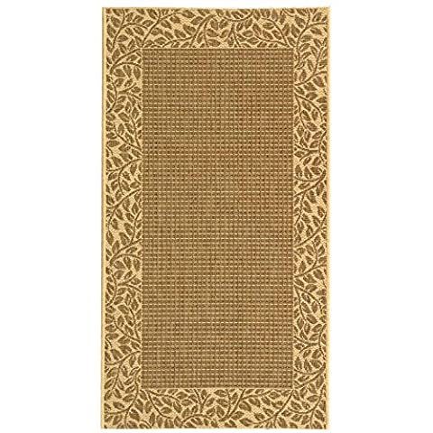 Safavieh Courtyard Collection CY0727-3009 Brown and Natural Indoor/ Outdoor Area Rug (2'7