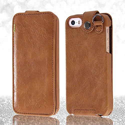 Disney Flap Type Leather Style iPhone 5 Case (Pooh) (japan import)