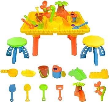 boppi® Mesa de Juego de Arena y Agua con 12 Accesorios y 2 Taburetes: Amazon.es: Juguetes y juegos