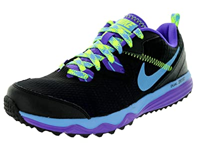 Nike Women's Dual Fusion Trail Black/University Bl/Hypr Grp/Vlt Running Shoe