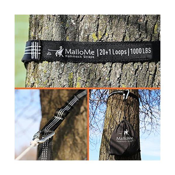 9b1724a6e35 XL Hammock Straps – Hammock Tree Straps Set Versatile 2000+ LBS Heavy Duty  40 Loops   100% ...