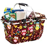 Keeps Drinks And Snacks Cool For Picnics And Sporting Events With A Cute Collapsible Insulated Owl Tote Baskets With Zipper